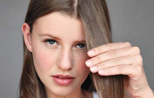 Franja para cabelos finos
