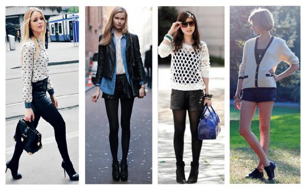 moda do short de couro