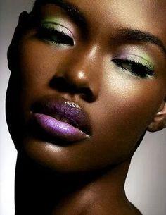 tons de maquiagem para os olhos de negra