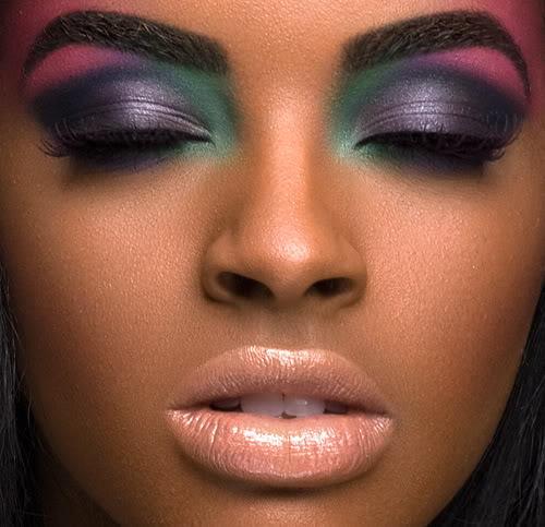 maquiagem para negras com olhos coloridos