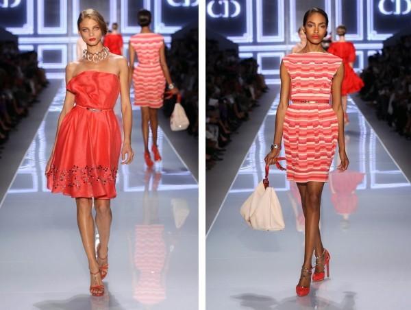 Modelos da Dior desfilando Tendência Laranja