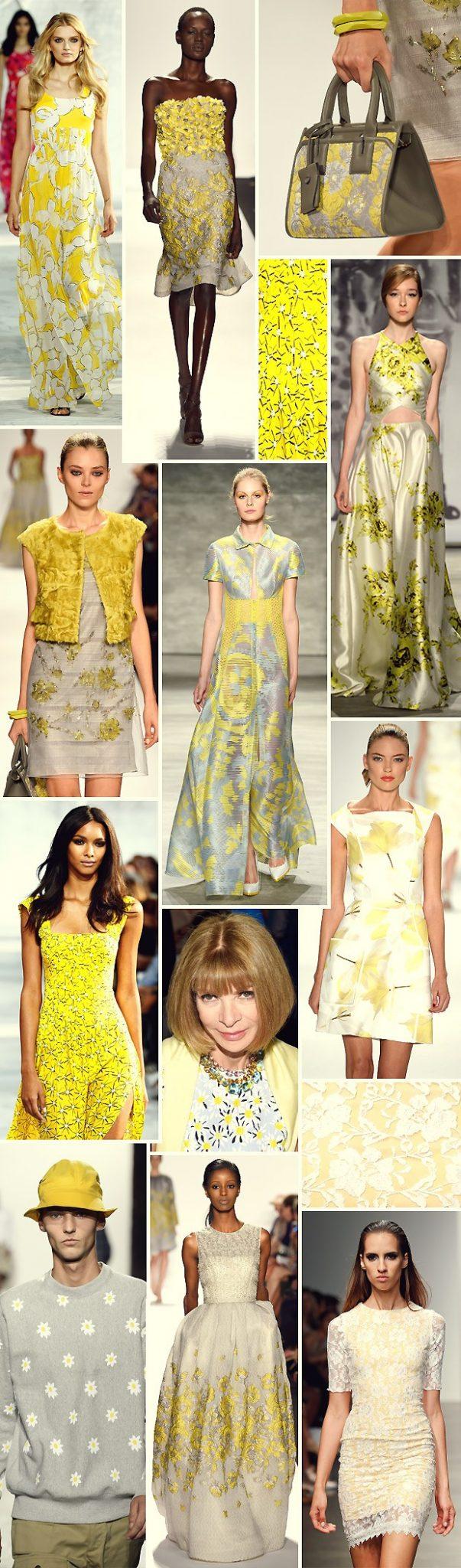 modelos de roupas com estampas de flores amarelas