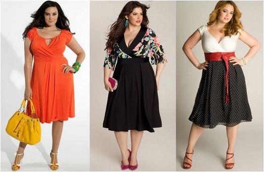 Saias e Vestidos evasê no guarda-roupa plus size