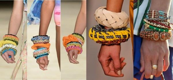 Mix de pulseiras entre as tendências de maxi acessórios