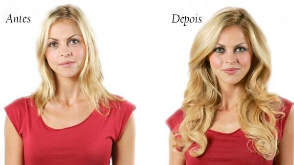 antes e depois do mega hair