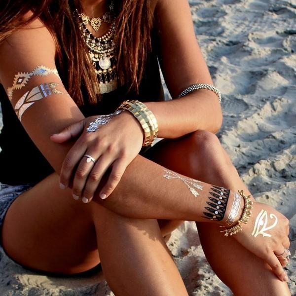 tatuagens temporárias tendência do verão