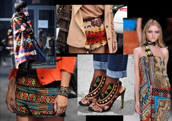 cores da tendência navajo