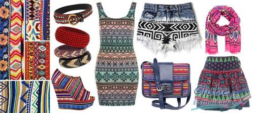 peças de roupa da tendência navajo