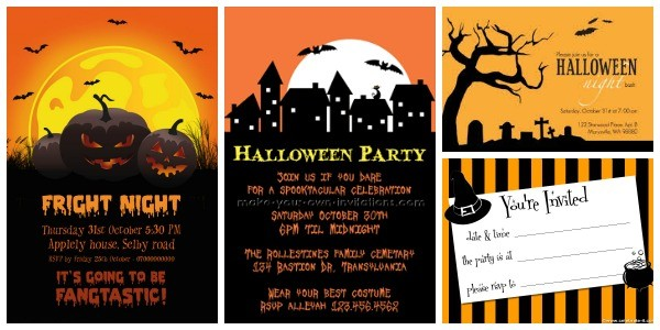 Convites para festa de Halloween