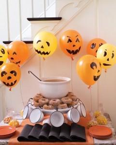 bexigas para decorar a festa de Halloween