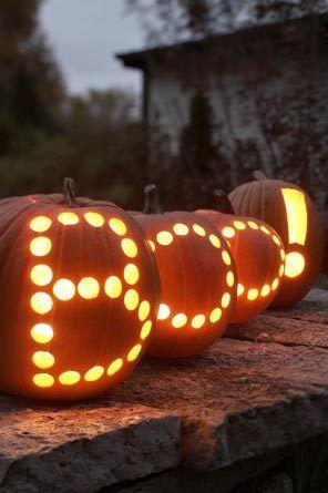 boo de abóbora para festa de Halloween