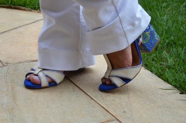 Salto Médio branco com azul