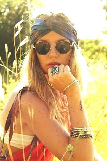 Verão dos lenços e hippie e chic