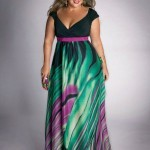 Foto de Vestido Plus Size colorido