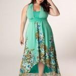 Foto de Vestido Plus Size verde florido