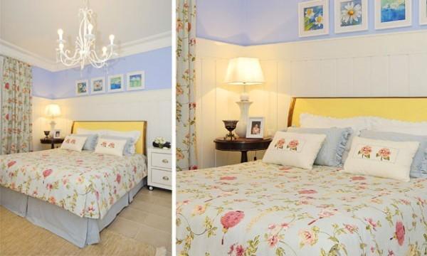 decoração para quarto de casal estilo provençal