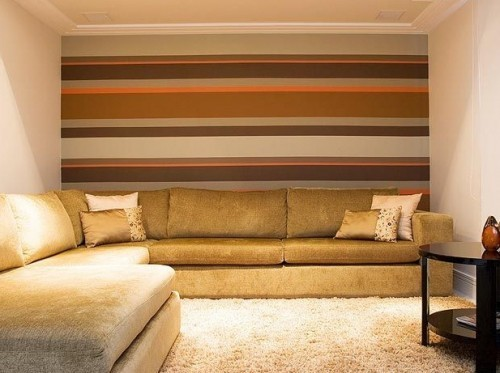 Foto de sala decorada com linhas horizontais