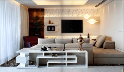 Imagem de sala com móveis multifuncionais