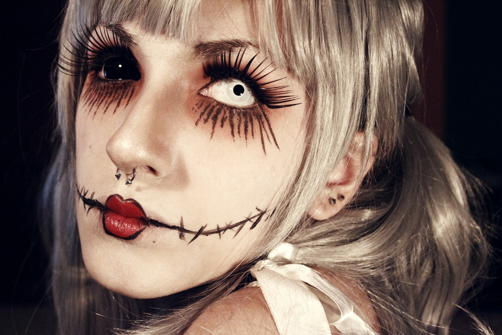 Maquiagem de Halloween de terror