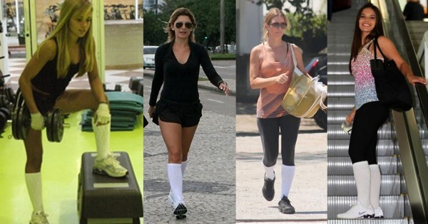 Meião da moda fitness 2015