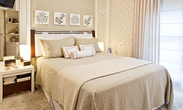 Sugestões de cores para quarto de casal Site de Beleza e  ~ Textura Para Quarto De Casal Pequeno