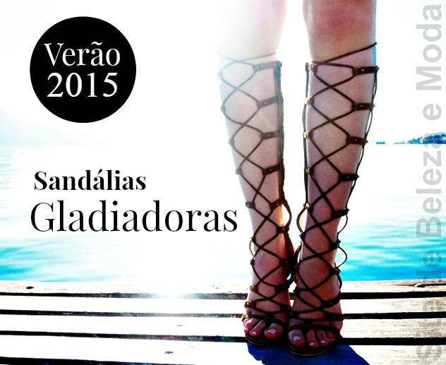 Sandálias gladiadoras