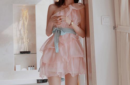 uma das opções de vestidos para formatura
