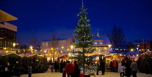 Reykjavík Islandia lugar para passar o Natal