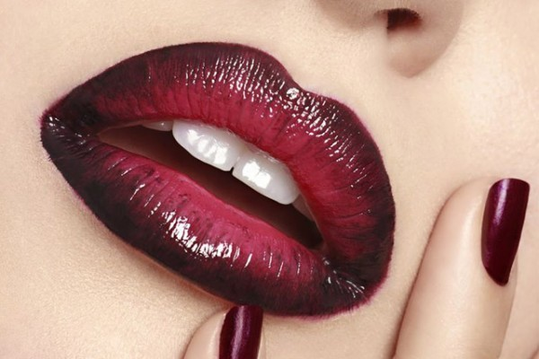 tendência Ombré lips