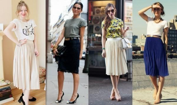 Como usar a saia midi