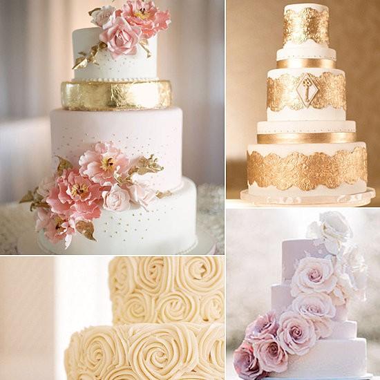 bolos que Tendências para Casamentos 2015