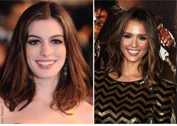 imagem de mulheres usando cabelo médio
