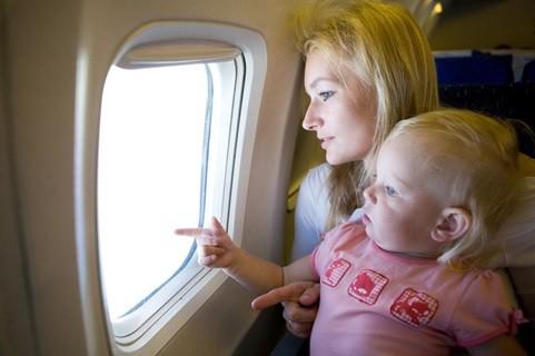 viagem de férias no avião