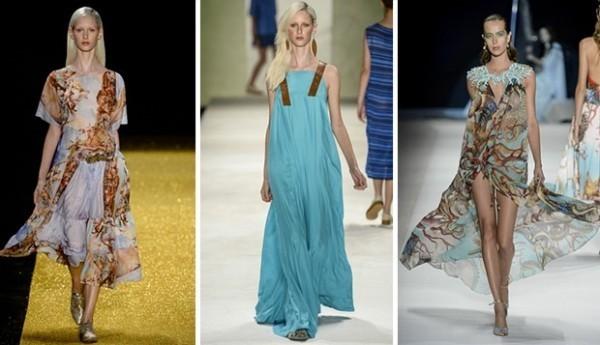 Desfile mostra a tendência de tecidos mais fluidos para os Looks do Verão 2015