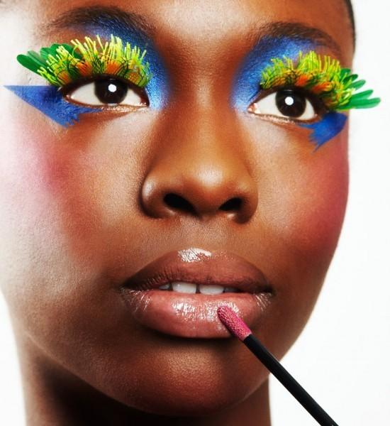Maquiagem de carnaval para mulher negra