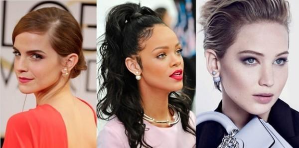 famosas usando Brinco Mise en Dior
