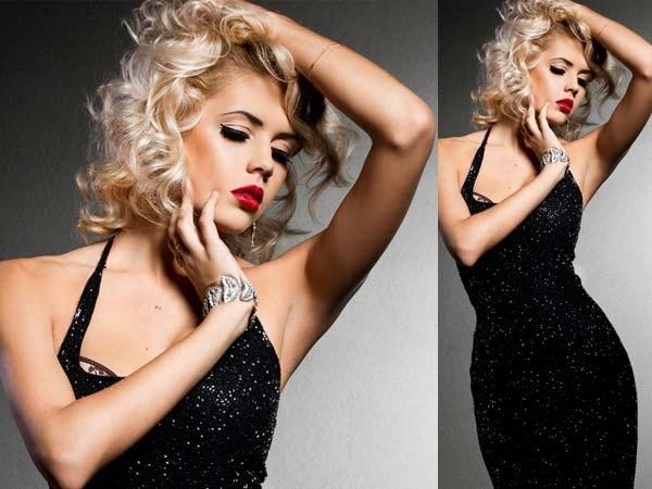 como combinar o vestido preto com a maquiagem