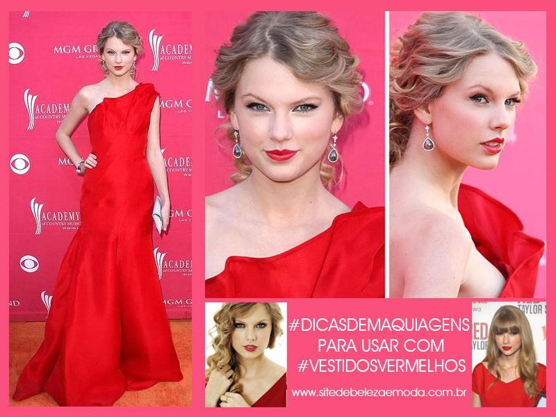 maquiagem para combinar com o vestido vermelho