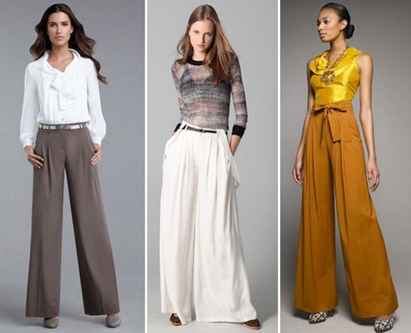 mulheres usando calca pantalona