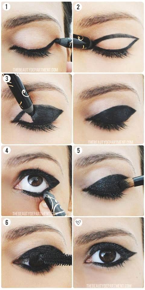 Maquiagem para festa a noite com vestido preto