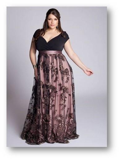 vestido plus size de renda