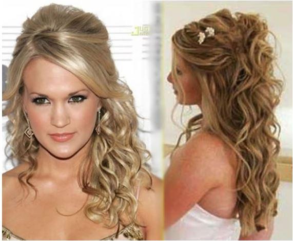 penteados para casamento com cabelos cacheados