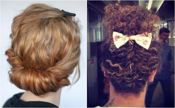 sugestões de penteados para Cabelos cacheados