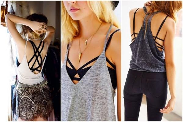 Strappy Bra na moda Primavera verão