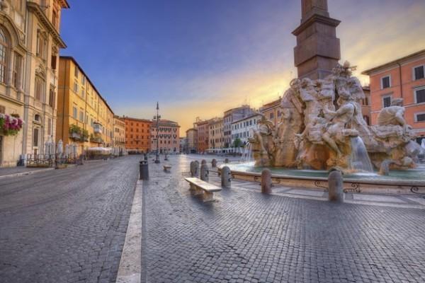 Roma é um destino internacional para relaxar