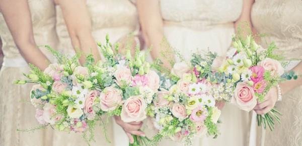 flores na festa de casamento