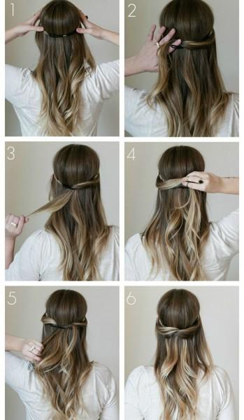 penteados bonitos e simples