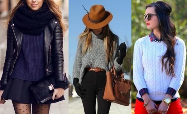 Suéteres entre os acessórios da moda outono e inverno