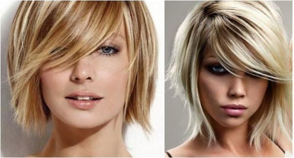 mulher loira com cabelo curto perfeito
