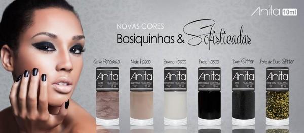 Coleção de esmaltes outono-inverno 2015 Basiquinhas & Sofisticadas Anita - Novas Cores!